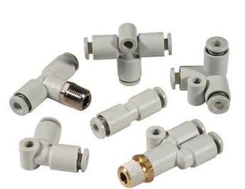 选择SMC快换接头具体型号:KQL06-02S,KQL08-01S