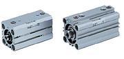 SMC带气缓冲的薄型气缸安装尺寸RDQB32-50-F9BV