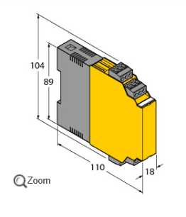 TURCK隔离开关放大器IM1-22EX-R可调输出模式