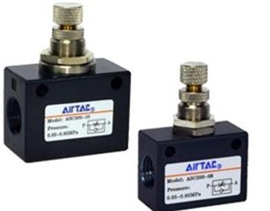 AIRTAC单向节流阀ASC200-08,4V310-10 AC220V