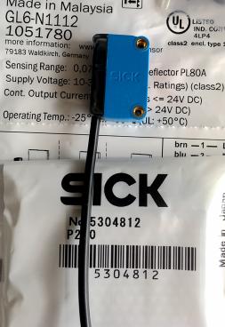 购买GL6-P1111,德国SICK迷你型光电开关