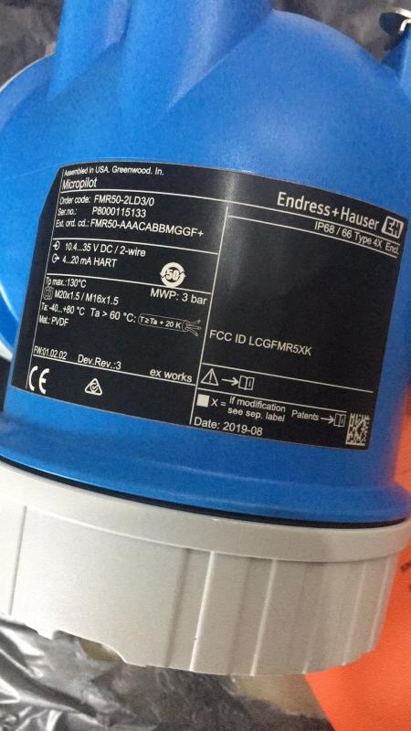 E+H超声波流量计的产品说明FTL50-NGQ2AA4E5A