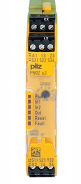 PILZ紧凑型安全继电器的结构简单,订货号:751135