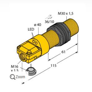 实际说明图尔克BI10-P30SR-VN4X2传感器