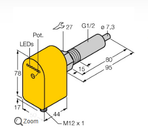 分析图尔克FCS-G1/2A4P-AP8X-H1141/L080流量计